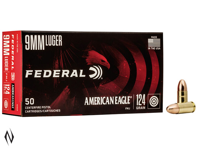 FEDERAL 9MM LUGER 124GR FMJ AMERICAN EAGLE Image