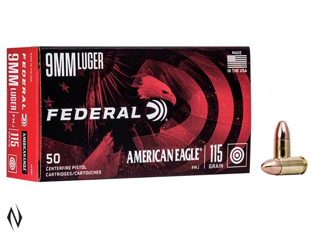 FEDERAL 9MM LUGER 115GR FMJ AMERICAN EAGLE Image