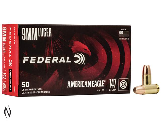 FEDERAL 9MM LUGER 147GR FMJ FP AMERICAN EAGLE Image