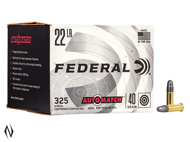 FEDERAL 22LR 40GR AUTOMATCH 325 PK 1200FPS Image