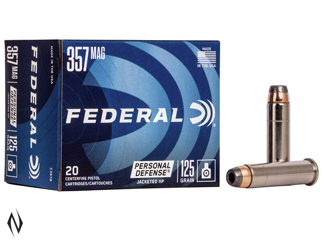 FEDERAL 357 MAG 125GR JHP PD Image