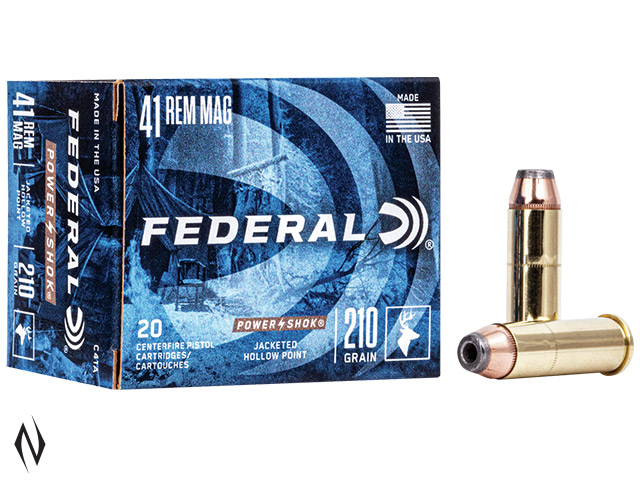 FEDERAL 41 REM MAG 210GR JHP POWER-SHOK Image