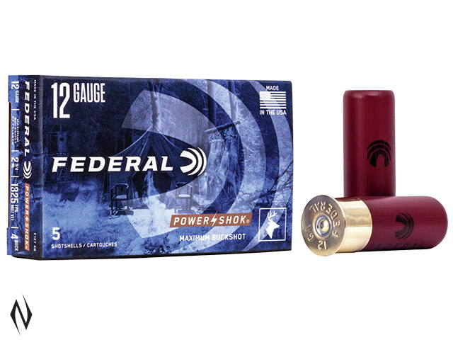 FEDERAL 12G 4 BUCK 27 PELLET 1325 FPS Image