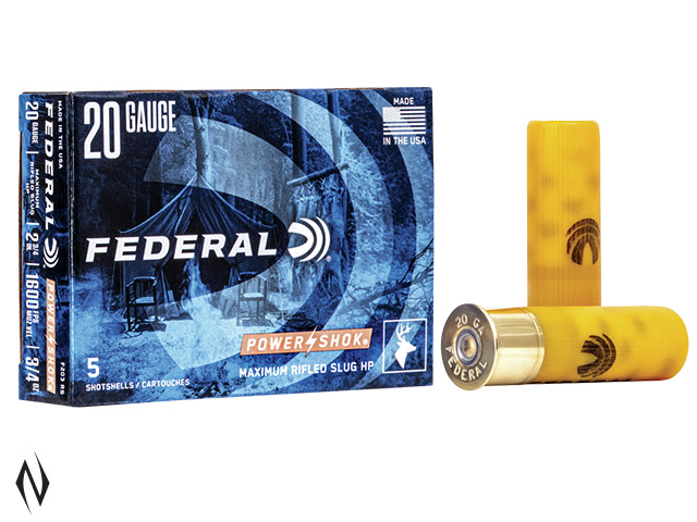 FEDERAL 20G 3/4OZ RIFLED SLUG HP 1600 FPS Image