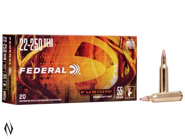 FEDERAL 22-250 REM 55GR FUSION Image