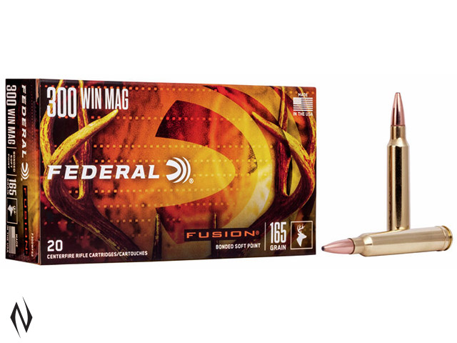 FEDERAL 300 WIN MAG 165GR FUSION Image