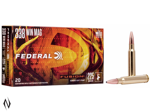 FEDERAL 338 WIN MAG 225GR FUSION Image