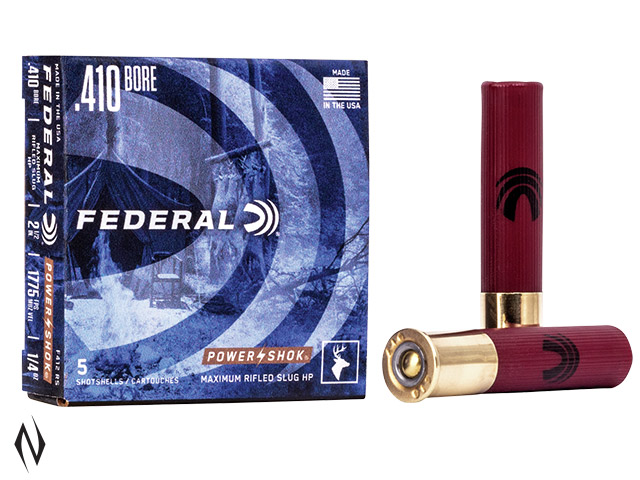 "FEDERAL 410G 2.5"" 1/4OZ RIFLED SLUG HP POWERSHOK 1600 FPS Image"