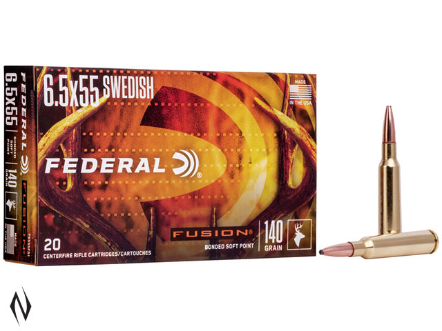 FEDERAL 6.5X55 SWED 140GR FUSION Image