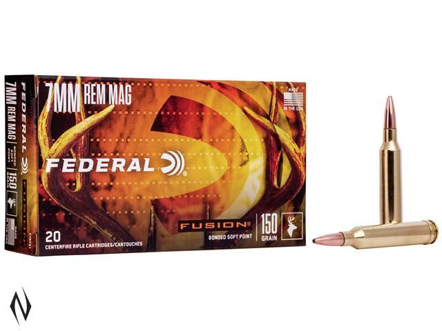 FEDERAL 7MM REM MAG 150GR FUSION Image