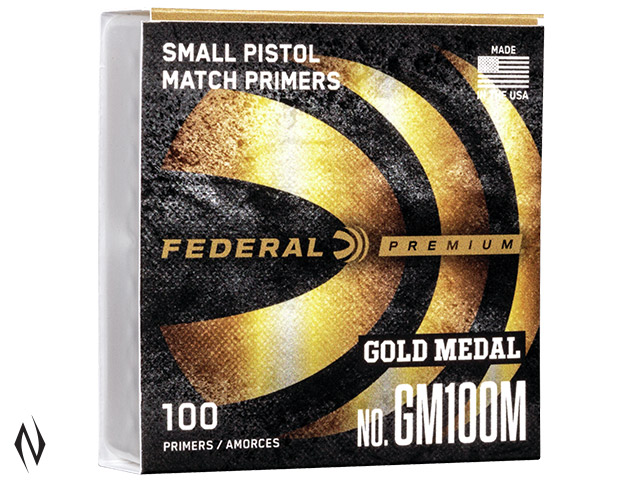 FEDERAL PRIMER GM100M GOLD MEDAL SMALL PISTOL Image