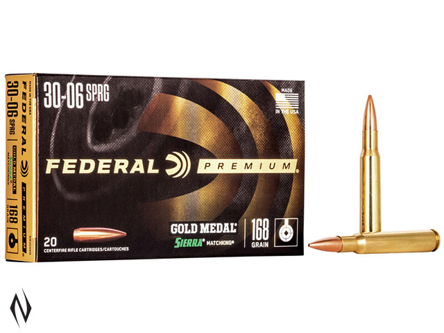 FEDERAL 30-06 SPR 168GR MATCHKING GOLD MEDAL Image
