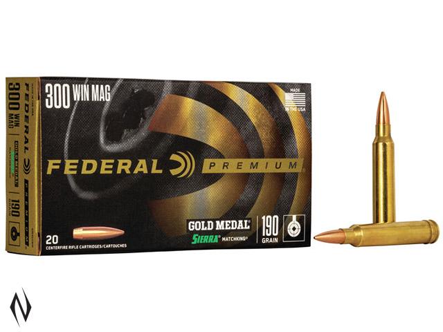 FEDERAL 300 WIN MAG 190GR MATCHKING GOLD MEDAL Image