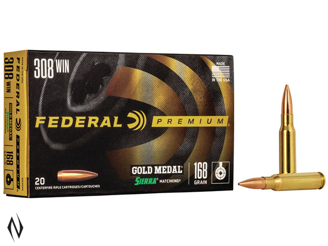 FEDERAL 308 WIN 168GR MATCHKING GOLD MEDAL Image