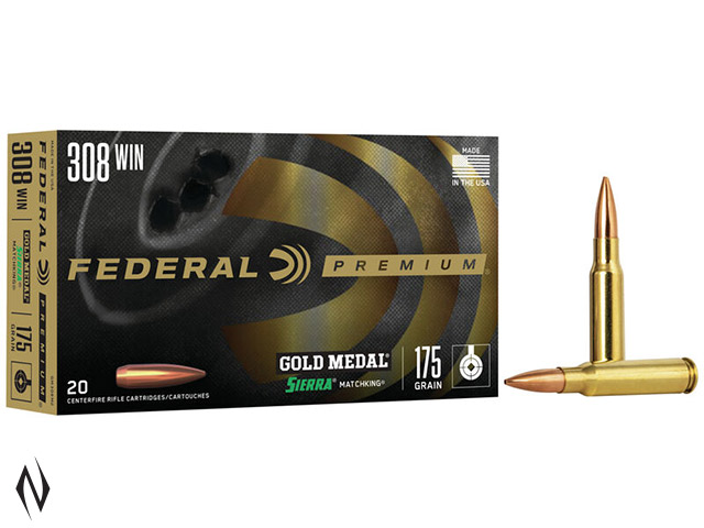 FEDERAL 308 WIN 175GR MATCHKING GOLD MEDAL Image
