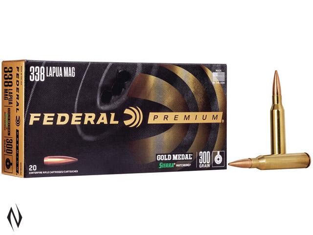 FEDERAL 338 LAPUA 300GR MATCHKING BTHP GOLD MEDAL Image