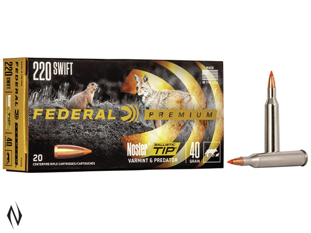 FEDERAL 220 SWIFT 40GR BTIP V-SHOK Image