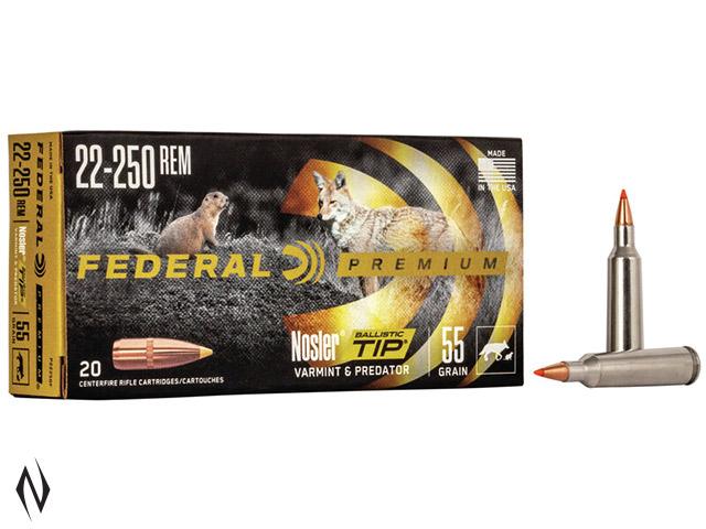 FEDERAL 22-250 REM 55GR BTIP V-SHOK Image