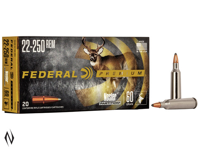FEDERAL 22-250 REM 60GR PARTITION VITAL-SHOK Image