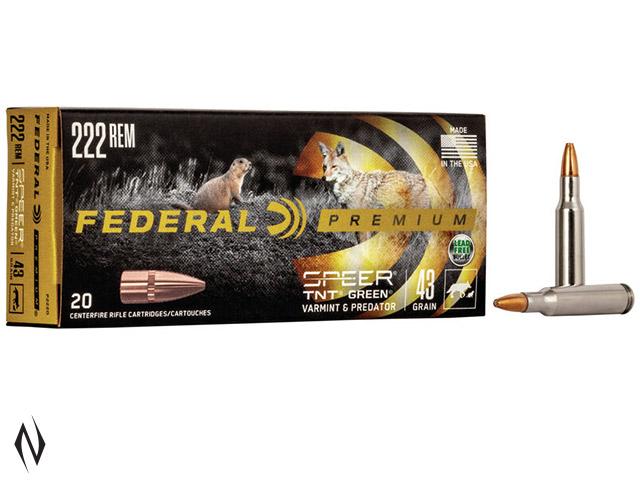 FEDERAL 222 REM 43GR TNT GREEN V-SHOK Image