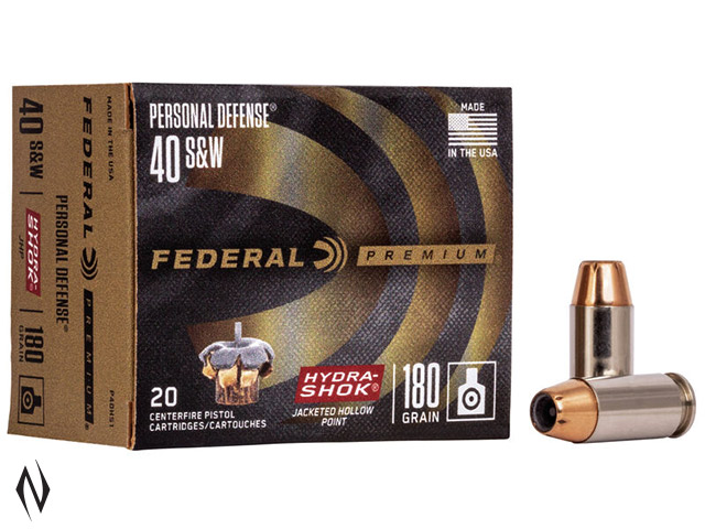 FEDERAL 40 S&W 180GR HYDRA-SHOK PD Image
