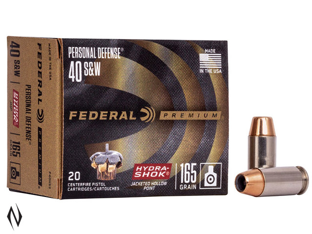FEDERAL 40 S&W 165GR HYDRA-SHOK PD Image