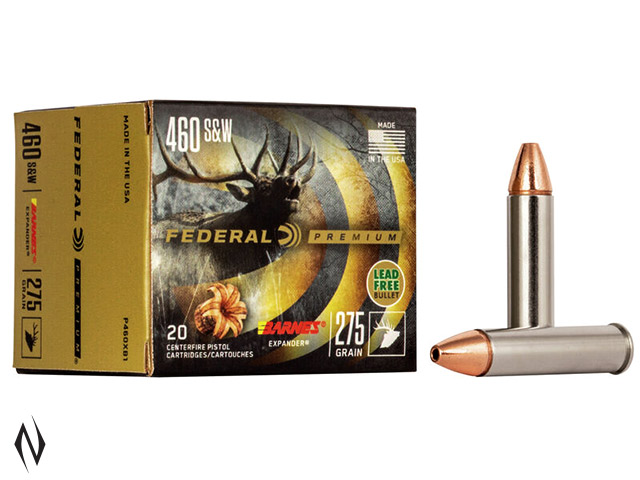 FEDERAL 460 S&W 275GR XPB Image