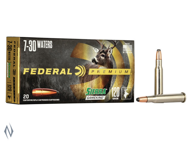 FEDERAL 7-30 WATERS 120GR FN VITAL-SHOK Image