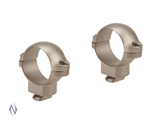 "LEUPOLD DUAL DOVETAIL 1"" RINGS MEDIUM SILVER Image"