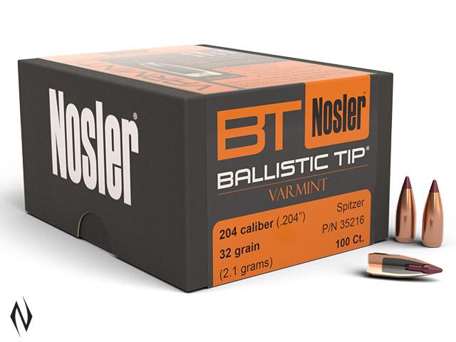 NOSLER 204 32GR BALLISTIC TIP 100PK Image