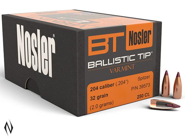 NOSLER 204 32GR BALLISTIC TIP 250PK Image