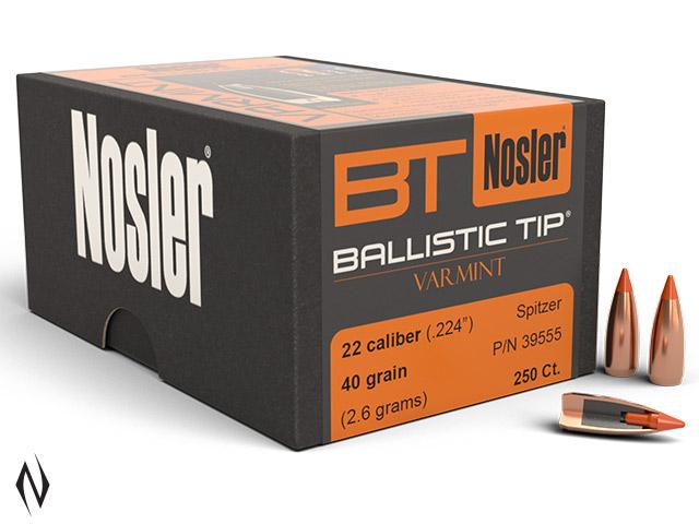 NOSLER 224 40GR BALLISTIC TIP 250PK Image