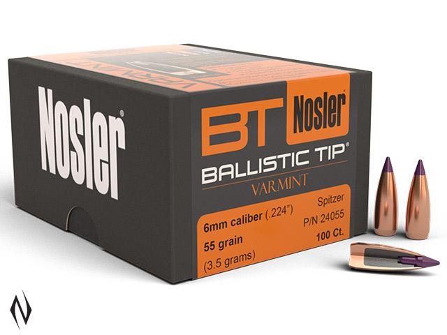 NOSLER 243 55GR BALLISTIC TIP 100PK Image