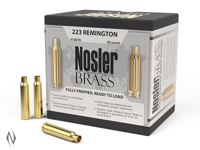 NOSLER CUSTOM BRASS 22-250 REM 50PK Image