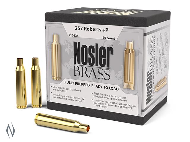 NOSLER CUSTOM BRASS 257 ROBERTS 50PK Image