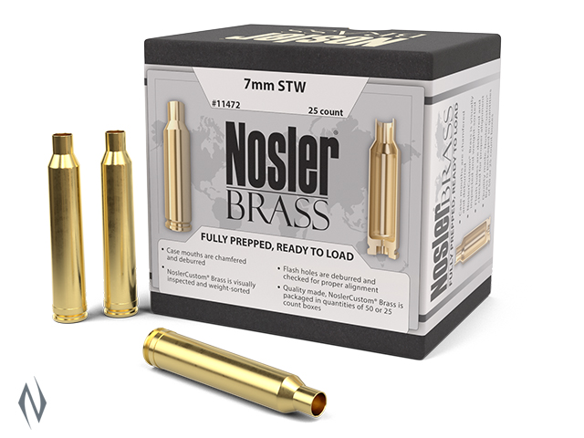 NOSLER CUSTOM BRASS 7MM STW 25PK Image