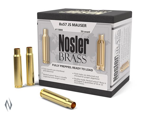 NOSLER CUSTOM BRASS 8X57 JS MAUSER 50PK Image