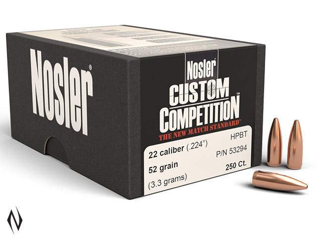 NOSLER 224 52GR HPBT CUSTOM COMP 250PK Image
