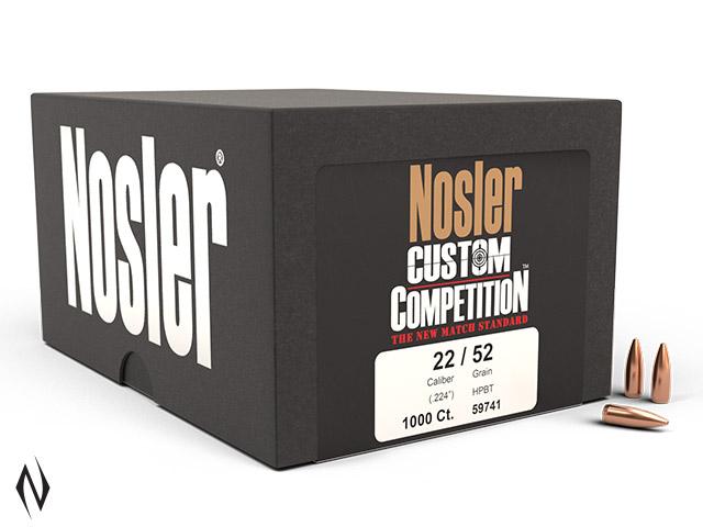 NOSLER 224 52GR HPBT CUSTOM COMP 1000PK Image