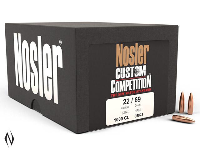 NOSLER 224 69GR HPBT CUSTOM COMP 1000PK Image