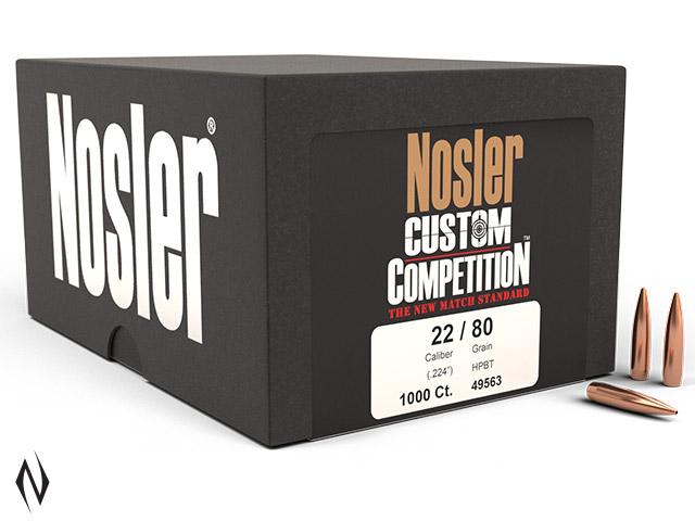 NOSLER 224 80GR HPBT CUSTOM COMP 1000PK Image