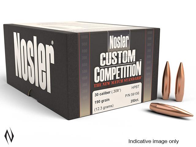 NOSLER 30 190GR HPBT CUSTOM COMP 100PK Image