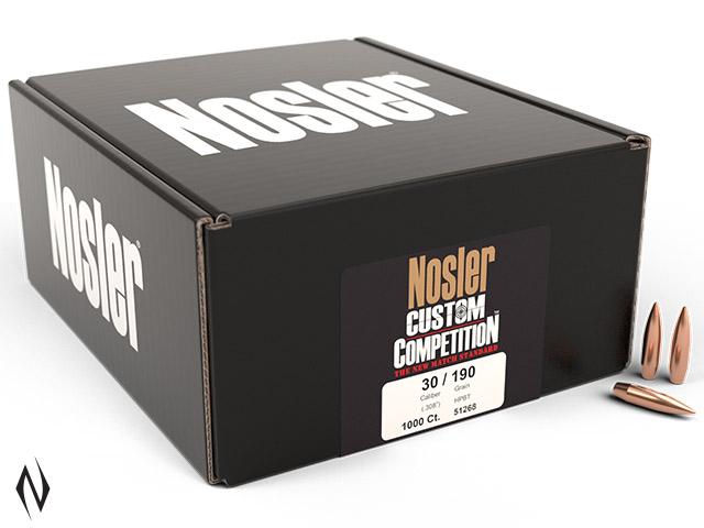 NOSLER 30 190GR HPBT CUSTOM COMP 1000PK Image