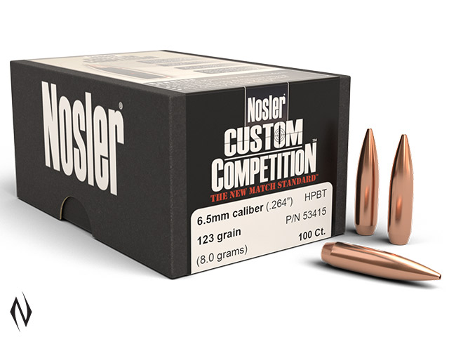 NOSLER 6.5MM 123GR HPBT CUSTOM COMP 100PK Image