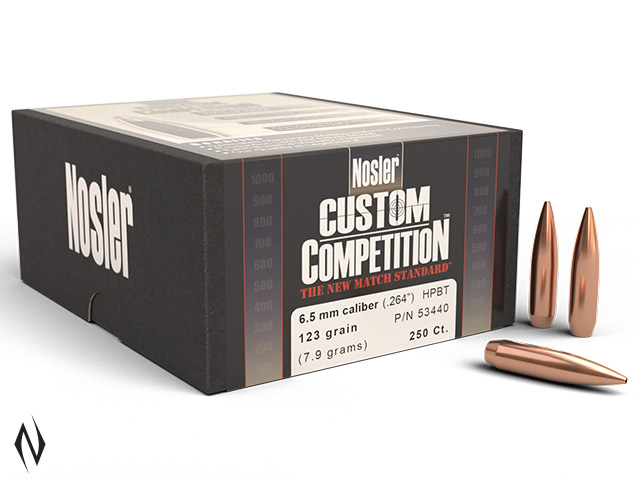 NOSLER 6.5MM 123GR HPBT CUSTOM COMP 250PK Image