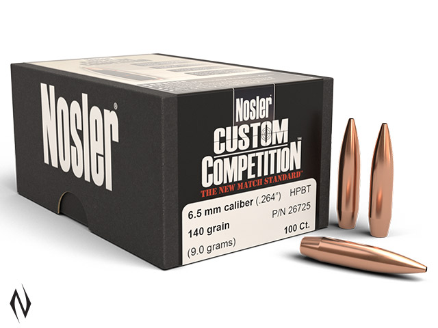 NOSLER 6.5MM 140GR HPBT CUSTOM COMP 100PK Image