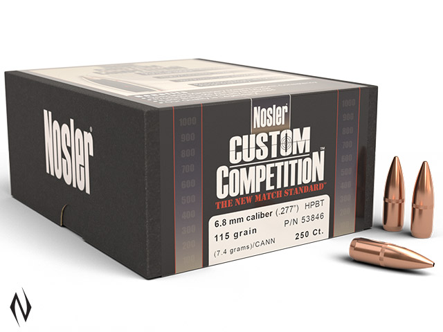 NOSLER 6.8MM 115GR HPBT CUSTOM COMP 250PK Image