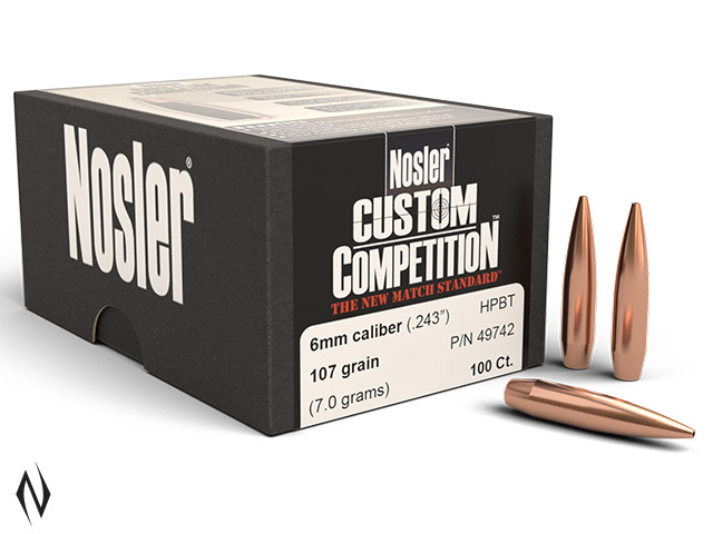NOSLER 6MM 107GR HPBT CUSTOM COMP 100PK Image