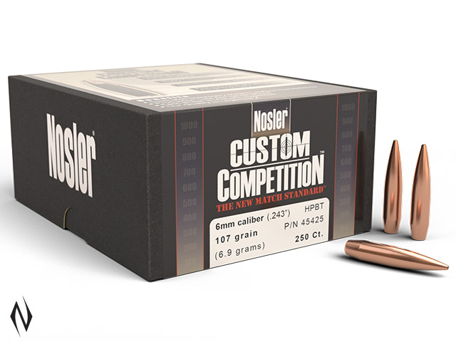 NOSLER 6MM 107GR HPBT CUSTOM COMP 250PK Image