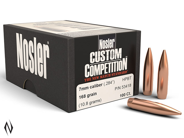 NOSLER 7MM 168GR HPBT CUSTOM COMP 100PK Image